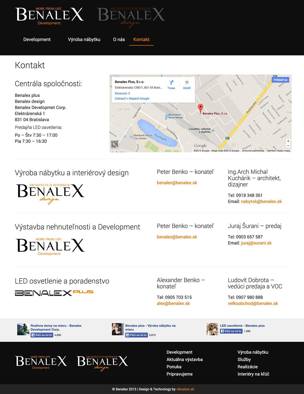 Kontakt Benalex design s.r.o. – výroba nábytku na mieru