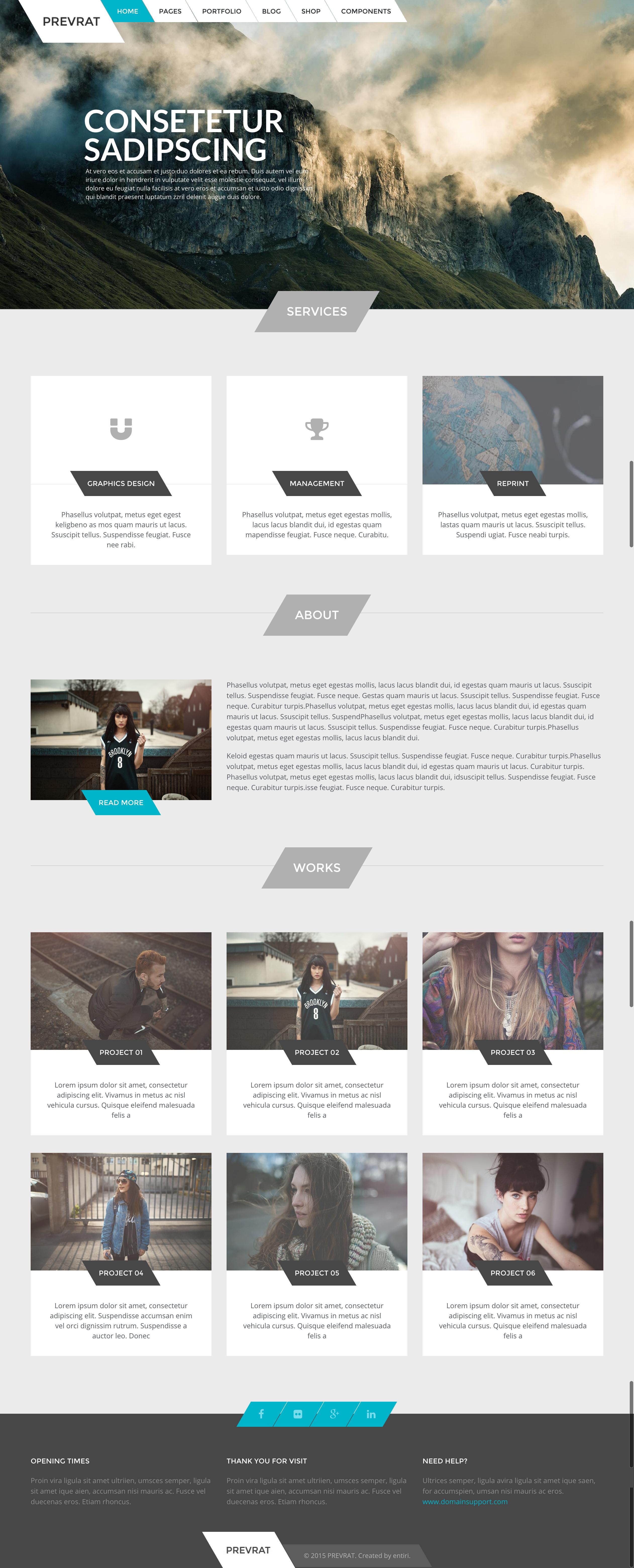 Prevrat Creative Portfolio Agency ThemePrevrat Creative Portfolio Agency Theme