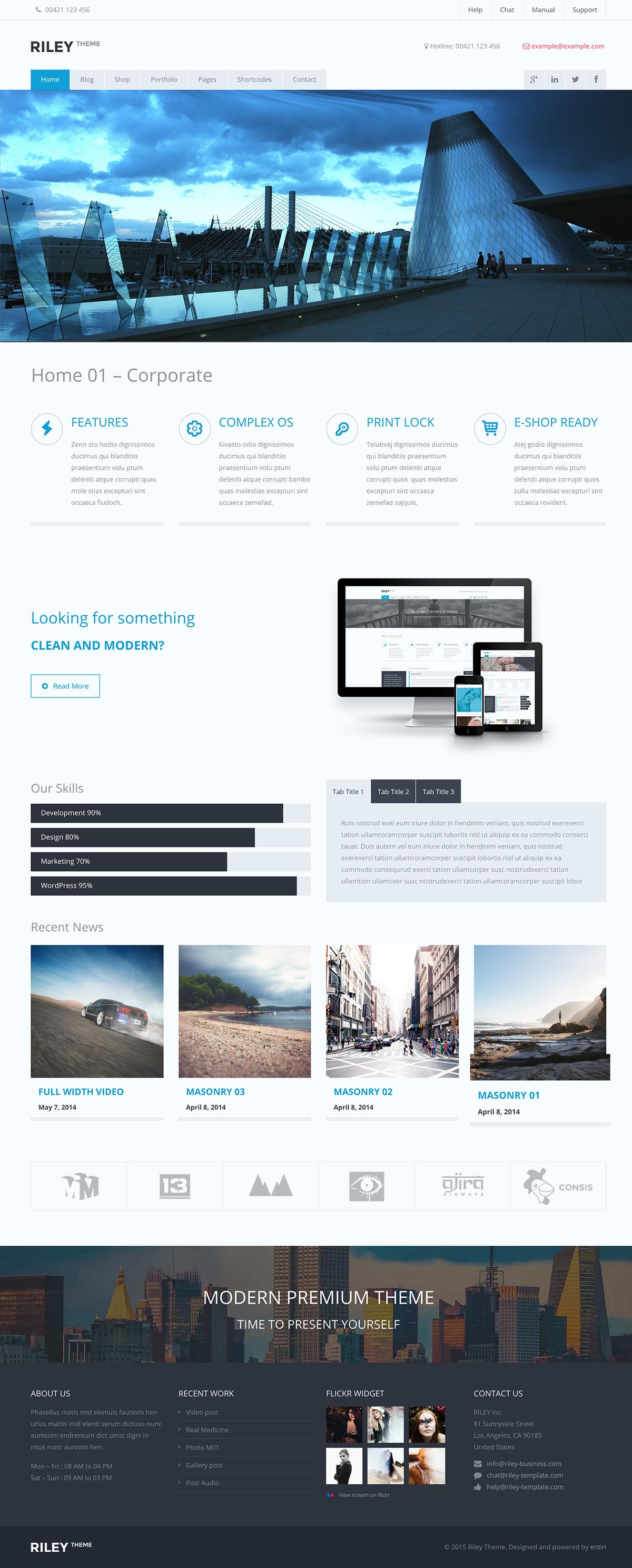 RILEY Corporate Multi Purpose WordPress ThemeRILEY Corporate Multi Purpose WordPress Theme copy
