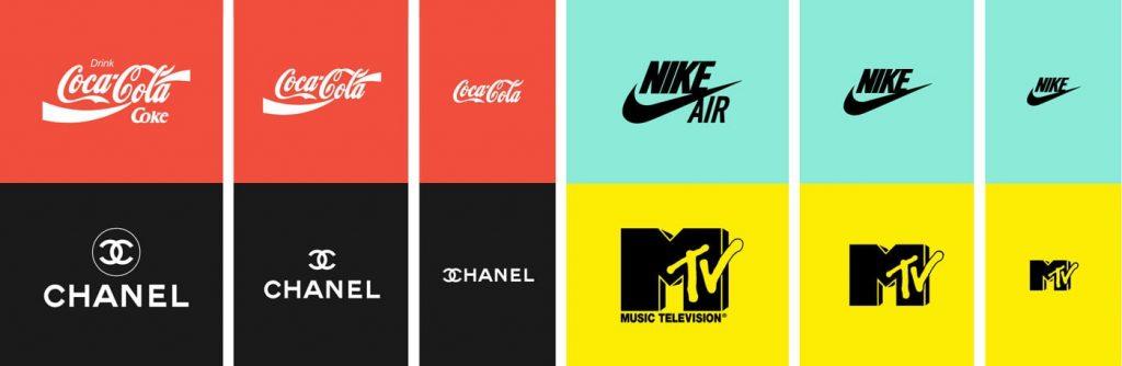 responzivne logo webdizajn nike coca cola MTV