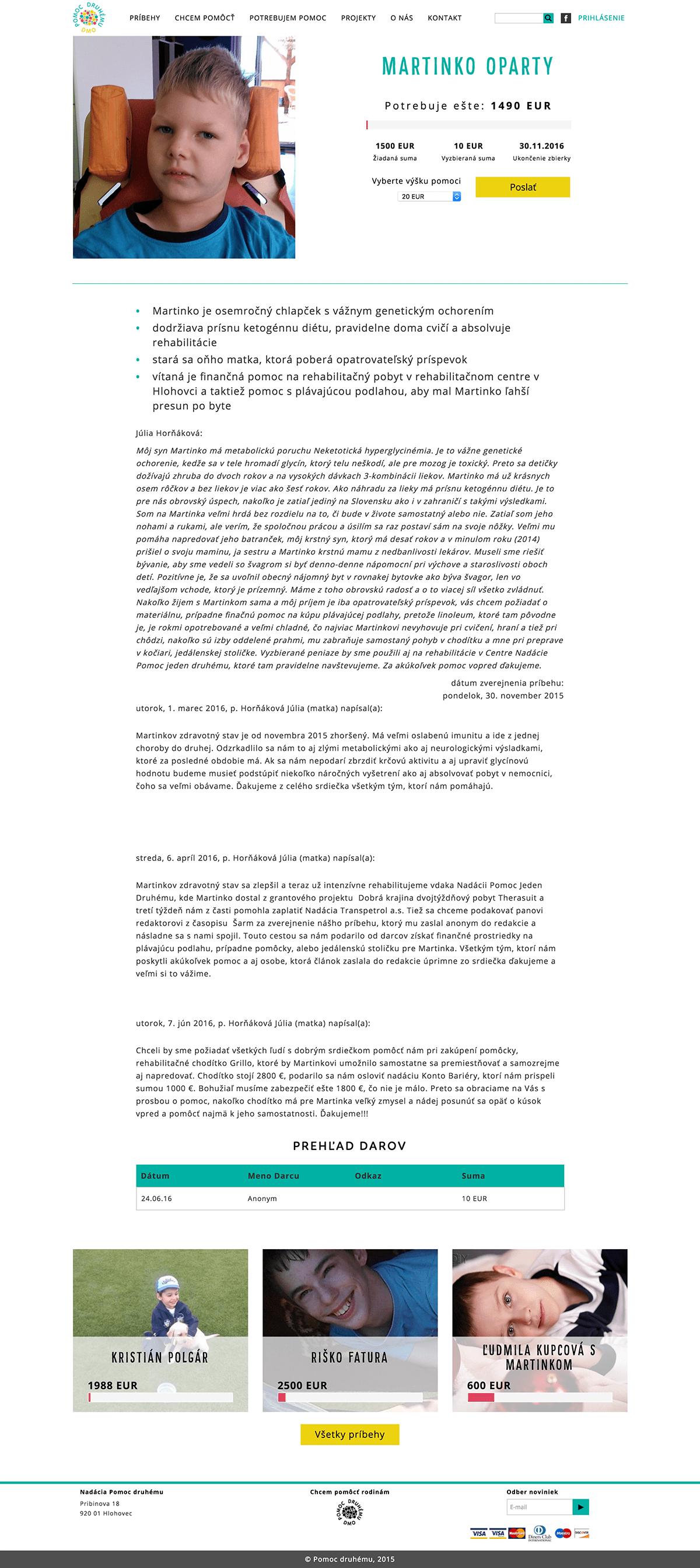 Martinko OPARTY – Pomoc druhému