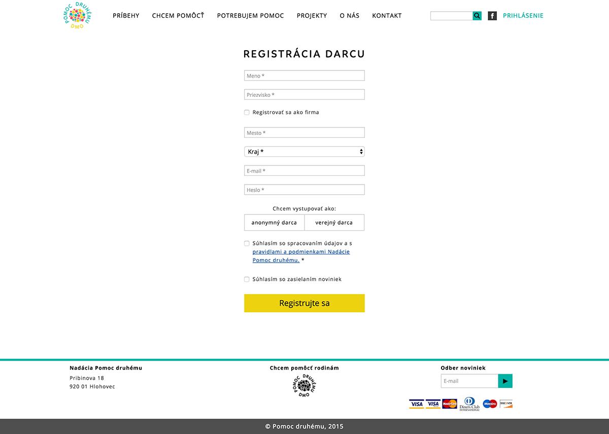 Registracia – Pomoc druhému